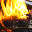Stock Photo: Wooden briquettes for BBQ