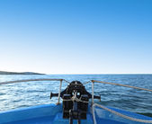 Blick von einem kreuzfahrtschiff — Stockfoto