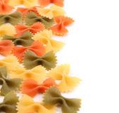 Antecedentes de los colores de farfalle pasta tres. — Foto de Stock