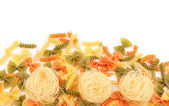 Different pasta in three colors. — Stock Photo