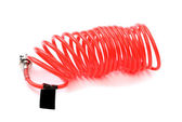 Plastic spring isolated on a white background — Stock Photo
