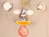 Mugg på sanden — Stockfoto