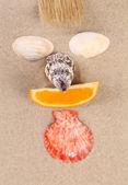 Kumsalda yapılan kupa — Stok fotoğraf