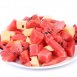 Bunch of sliced watermelons and melons — Stock Photo