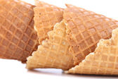 Wafer cup for ice-cream. Close up. — Stock Photo