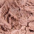 Chocolate ice cream macro detailed texture. — Stock Photo