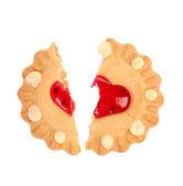 Biscuits. Broken heart. — Stock Photo