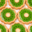 Background of biscuit with kiwi jam. — Stock Photo #29169595