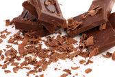 Chocolate bars and shaving — Stock Photo