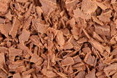 Chocolate shavings close up surface texture — Stock Photo