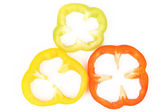 Multi-colour slices of peppers. — Stock Photo
