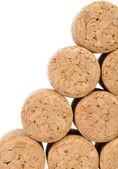 Background of new champage corks. — Stock Photo