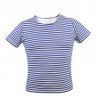 Striped vest T-shirt. Front. — Stock Photo