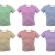 Different colour striped T-shirt. Front. — Stock Photo