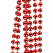 Red beads isolated on white — Stock Photo