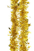 Tinsel. Christmas decoration. — Stock Photo