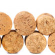 Stock Photo: Close up of a champagne corks.