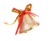 Christmas Bell and bow — Stock Photo