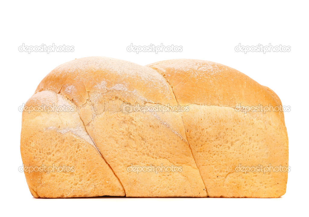 White Bread Loaf White Bread Loaf Isolated on a