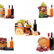 Collage of wine compositions. — Stock Photo