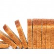 Sliced bread isolated on white — Stock Photo