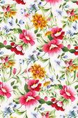 Utskrift av olika blommor. — Stockfoto
