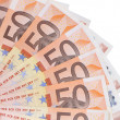 Fan of 50 euro notes — Stock Photo