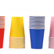 图库照片: Colorful paper coffee cup.