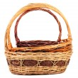 Stock Photo: Vintage weave wicker baskets