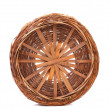 Bottom of the wicker basket — Stock Photo