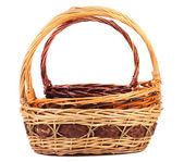 Vintage weave wicker baskets — Stock Photo