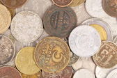 Background of old coins. Close up. — Stock Photo