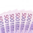 Fan of 500 Euro euro bills. — Stock Photo