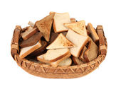 Full basket of different sliced bread. — Stock Photo