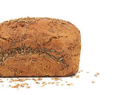 Half of rye bread with caraway seed. — Stock Photo