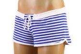 Kvinnans beach shorts på skyltdockan. framsidan. — Stockfoto