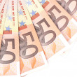 Fan of 50 euro notes. — Stock Photo #31696069