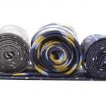 tres rollos de corbata multicolor — Foto de Stock