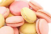 Background of several various macaron cakes. — Stock Photo