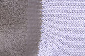 Background of mackintosh and fabric. Vertically. — Stock Photo