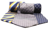 Tres corbata multicolor. — Foto de Stock