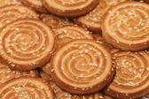 Fondo de galletas sésamo — Foto de Stock