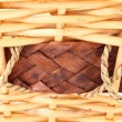 Stock Photo: Background vintage weave wicker basket