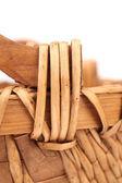 Background of weave wicker basket — Stock Photo