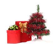 árbol de navidad y regalos. — Foto de Stock