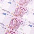 Five hundred euro notes. Close up. — Stock Photo