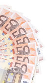 Fifty euro bills — Stock Photo