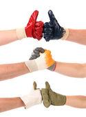 Complimenti differenti con le mani. — Foto Stock