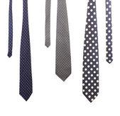 Drei bunten krawatten. — Stockfoto