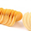 Two rows of potato chips. — Stock Photo #32905117